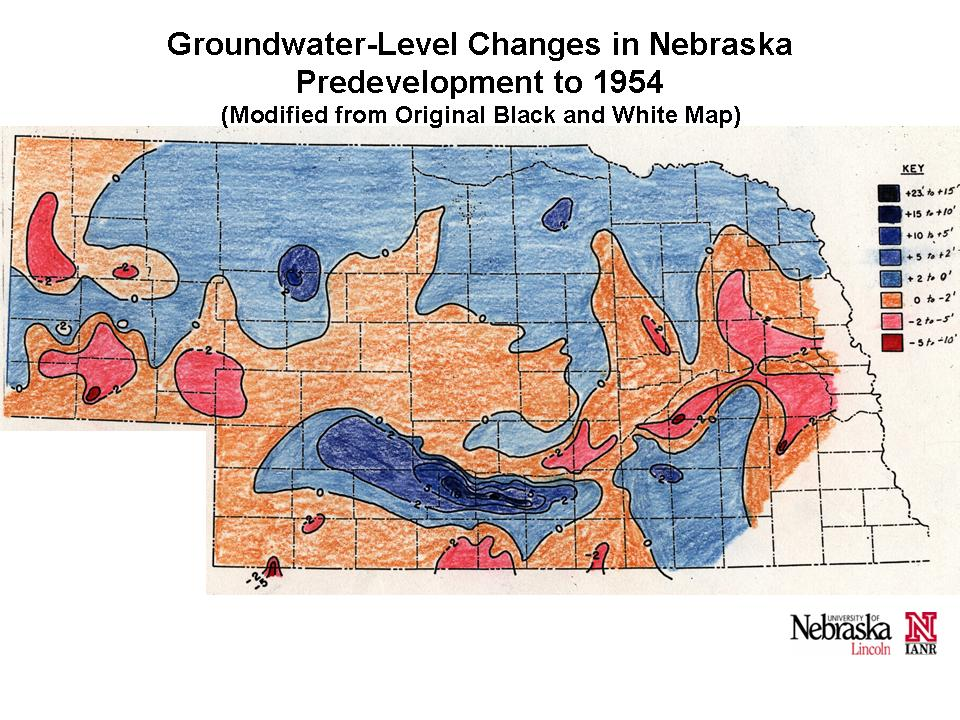 Change Maps  Groundwater  Water  Data  SNR  UNL