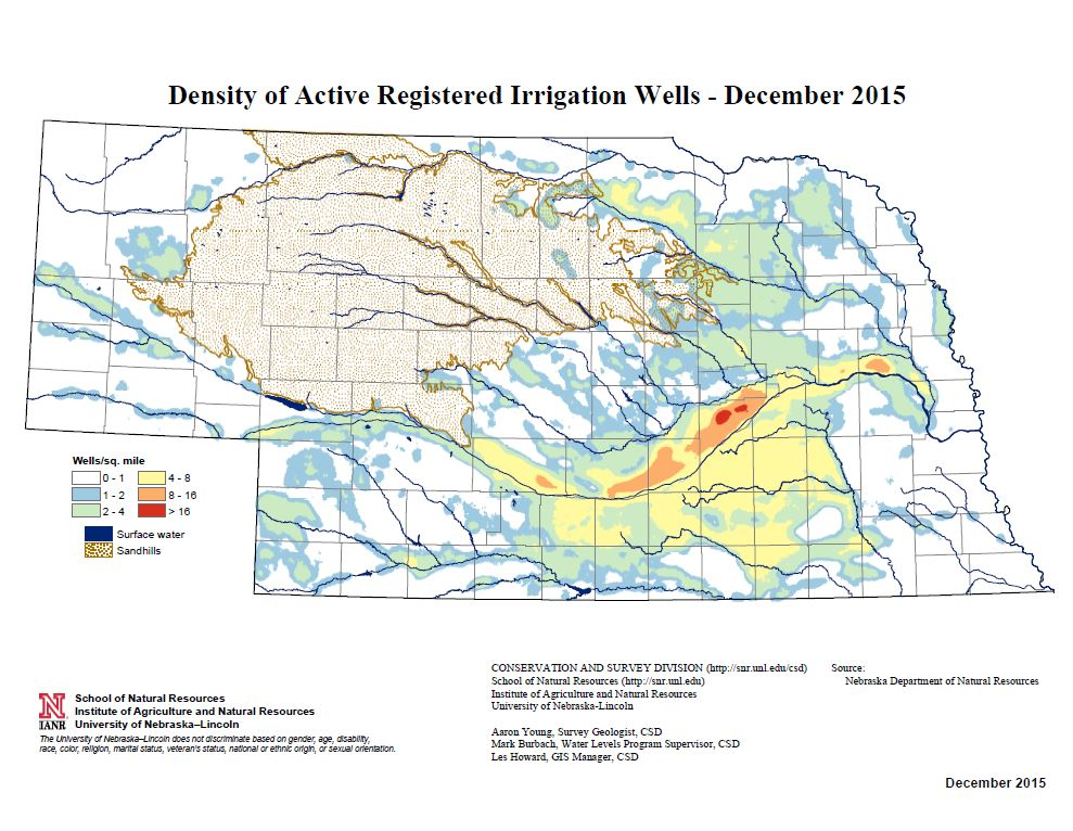 Change Maps Archive  Groundwater  Water  Data  SNR  UNL