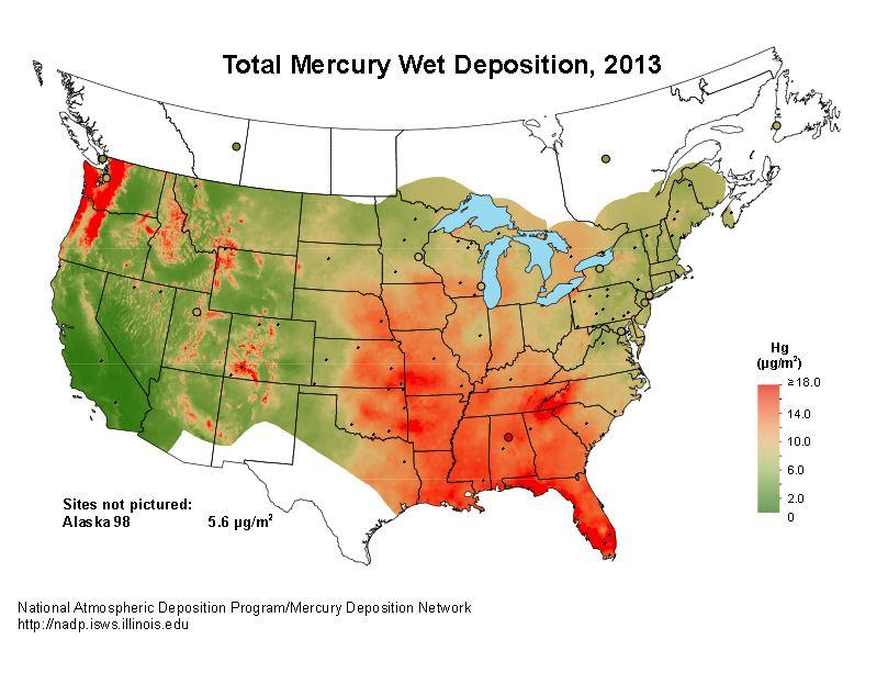Precipitation Climate Data  Online Resources SNR UNL - Acid deposition map of us