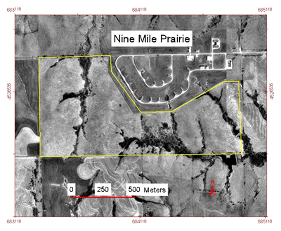 Nine-Mile Prairie Aerial Photograph