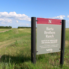 The Barta Brothers Ranch Research Facility is 6,000 acres covering two counties in the Nebraska Sand Hills. At the building on-site, offices, a living room, kitchen and dormitory space accommodate dozens of researchers and students for the summer.