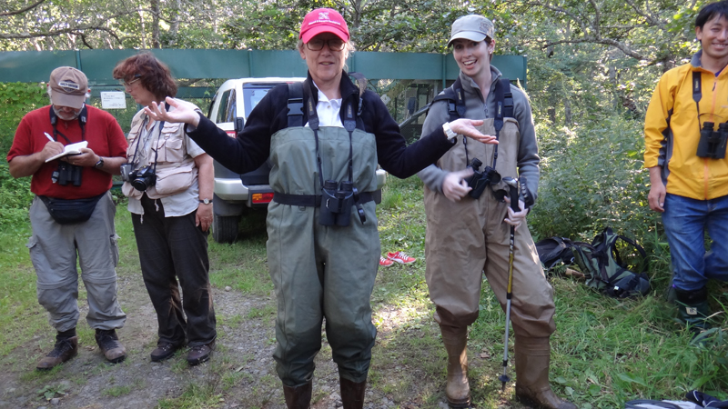 Mary Bomberger Brown in waders
