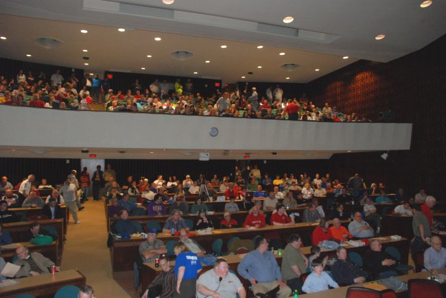 Auditorium filled to capacity at the Central Plains Severe Weather Symposium