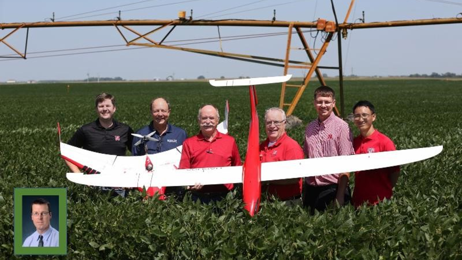 A new research project funded by the United States Department of Agriculture and the Daugherty Water for Food Global Institute at the University of Nebraska seeks to deploy drones in search of improved crop irrigation efficiency. The funding provided by the half million-dollar grant will be used to explore using new aerial robotic technologies to help farmers make informed decisions about managing their complex center pivot irrigation systems.