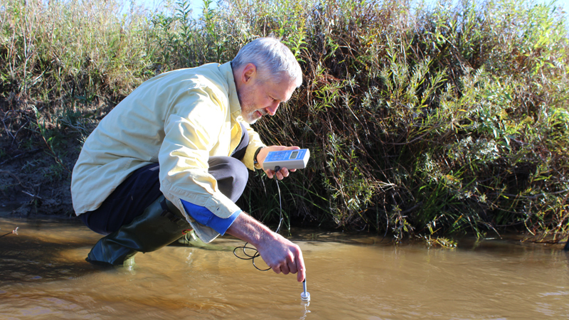 By sampling groundwater and determining its age, University of Nebraska–Lincoln researchers hope to determine whether predictions for groundwater discharge rates and contamination removal in watersheds are accurate.