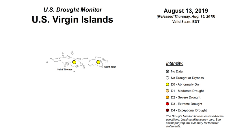 U.S. Drought Monitor now includes U.S. Virgin Islands
