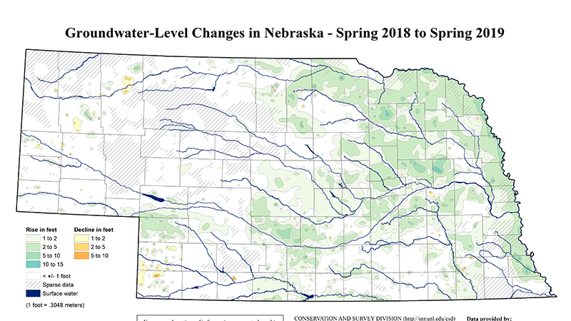 Nebraska groundwater levels rise following extraordinarily wet year, according to new report