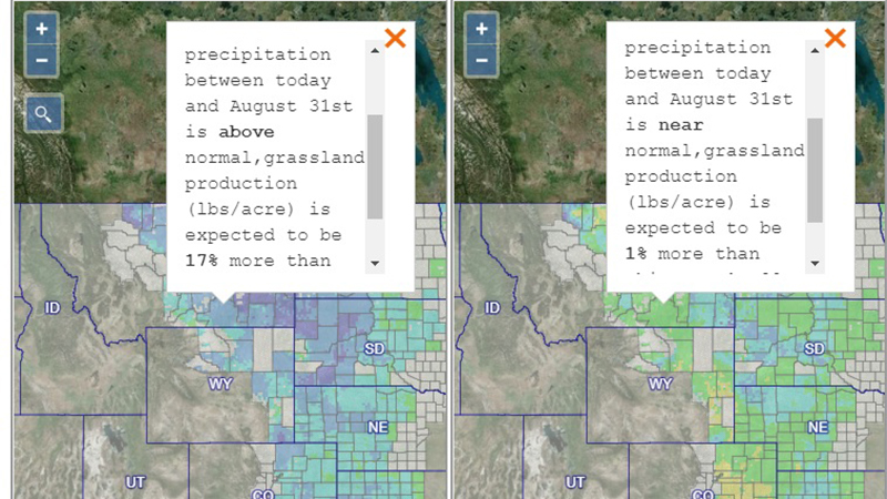 The Grassland Productivity Forecast, or Grass-Cast, was developed in collaboration with Colorado State University, the U.S. Department of Agriculture, University of Arizona and NDMC, which is housed at the University of Nebraska-Lincoln School of Natural Resources.