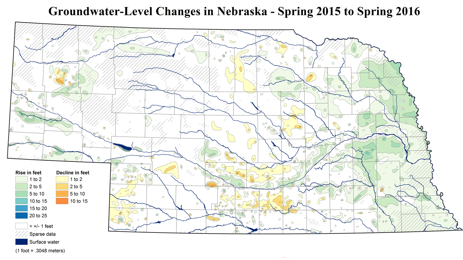 CSD Groundwater Change Map