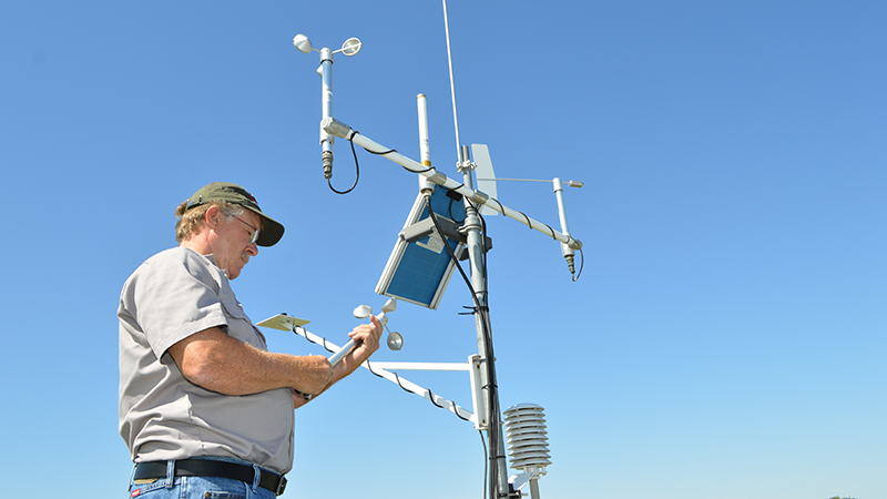 Glen with Mesonet Station