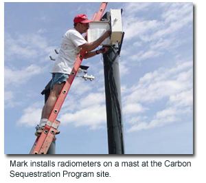 Mark Mesarch install instrumentation for a Remote Sensing experiment