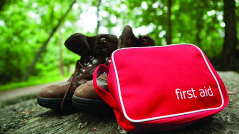 First Aid Kit and Hiking Boot
