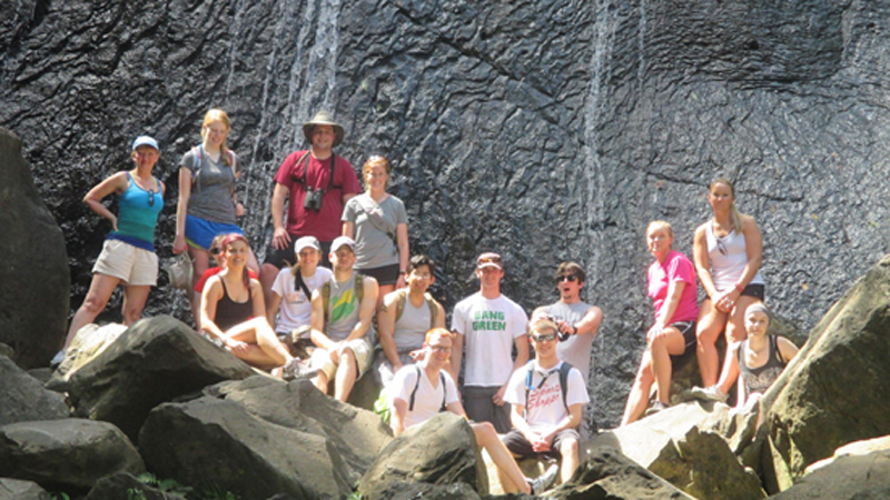 Puerto Rico 2014 Group Waterfall