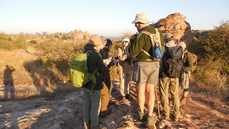 Group HIke in Botswwana