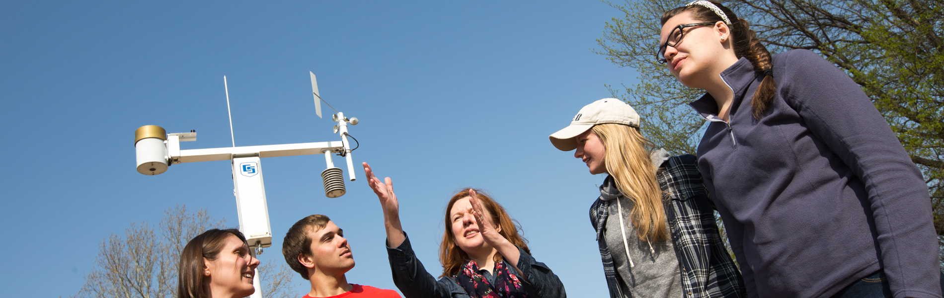 Class at weather Station