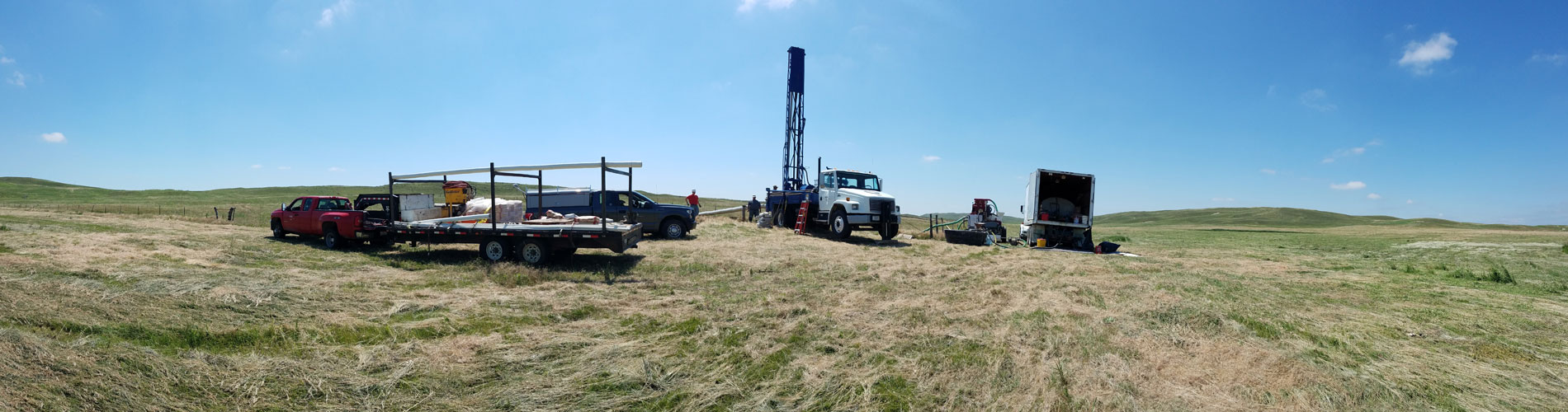 Drilling Rig at center