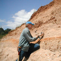 Paul Hanson sampling a Wisconsin River terrace fill for optical dating.