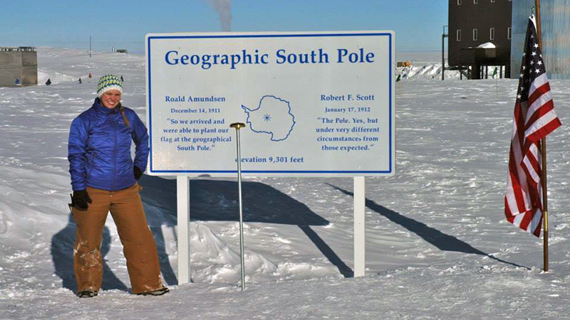 Lindsay at the South Pole