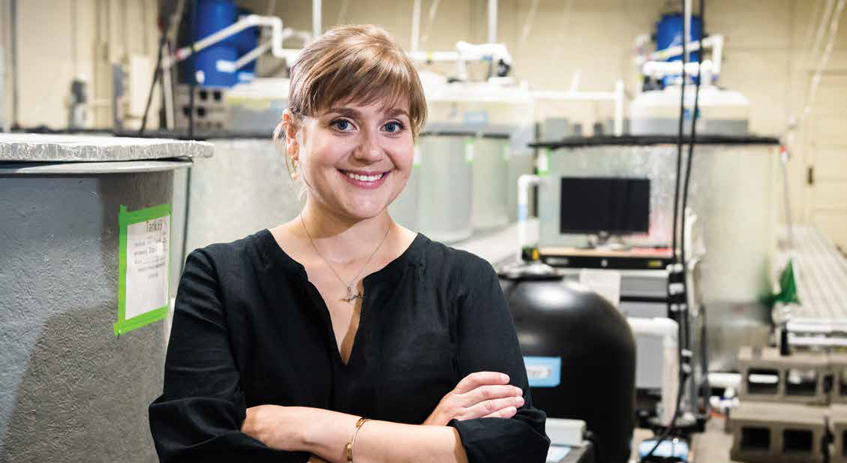 Jamilynn Poletto, fish physiologist and assistant professor at the University of Nebraska–Lincoln School of Natural Resources, is improving human health through her studies of fish health.