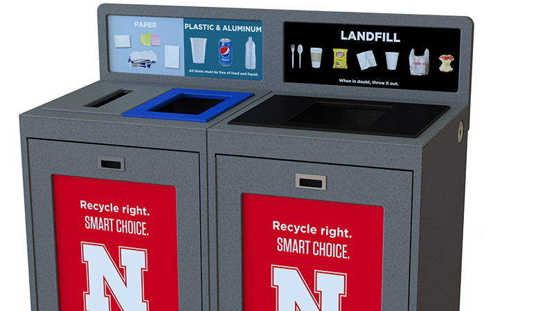 Hardin Hall part of pilot program aims at realigning recycling university-wide